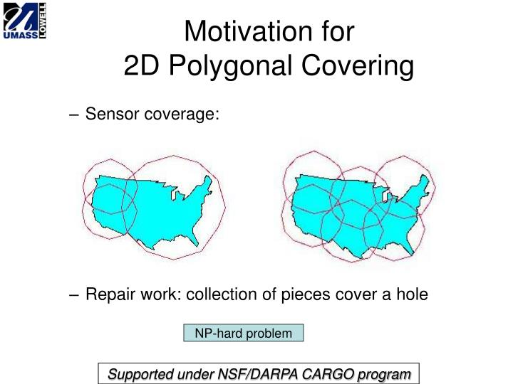 Motivation for 2d polygonal covering