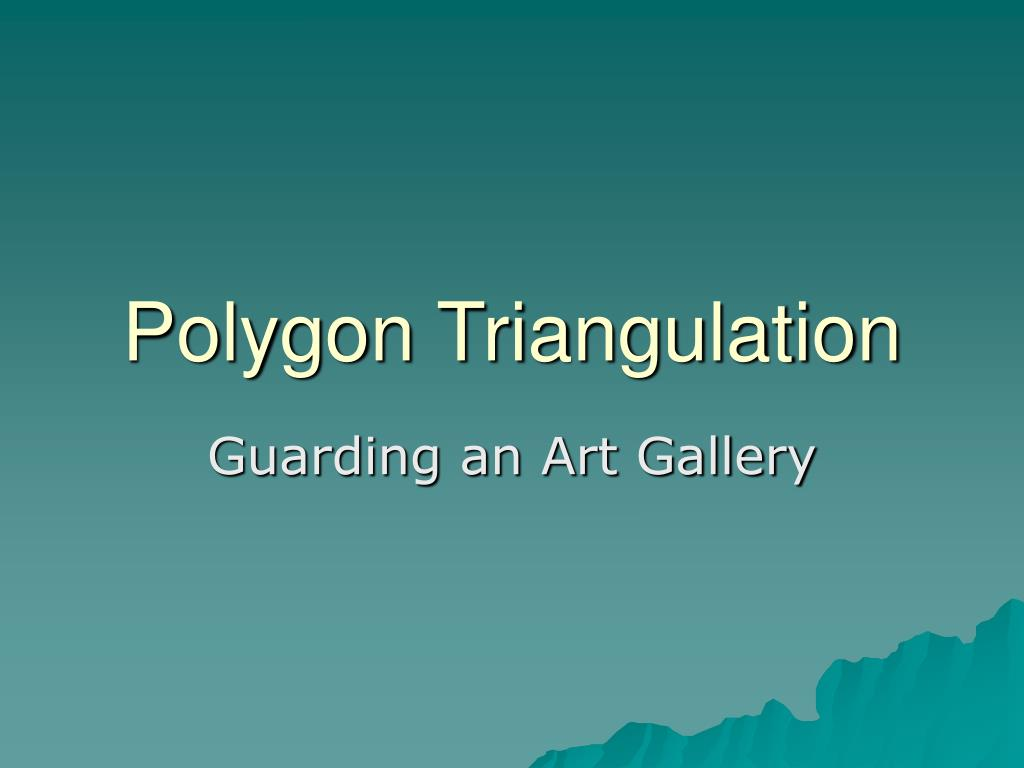 polygon triangulation l.
