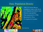 data population density