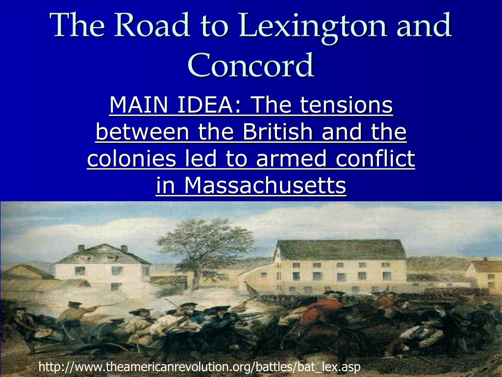 the road to lexington and concord l.