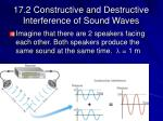 17 2 constructive and destructive interference of sound waves