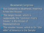 bicameral congress