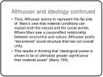althusser and ideology continued