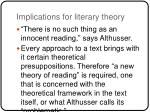 implications for literary theory