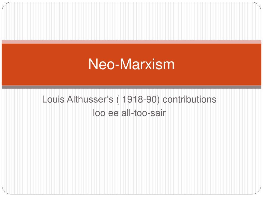 neo marxism l.