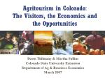agritourism in colorado the visitors the economics and the opportunities