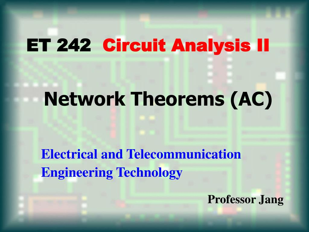 network theorems ac l.