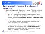 background 1 supporting standard definition