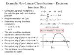 example non linear classification decision function d x