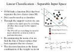 linear classification separable input space