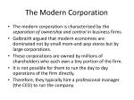 the modern c orporation