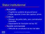 statut institutionnel11