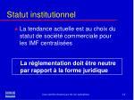 statut institutionnel12