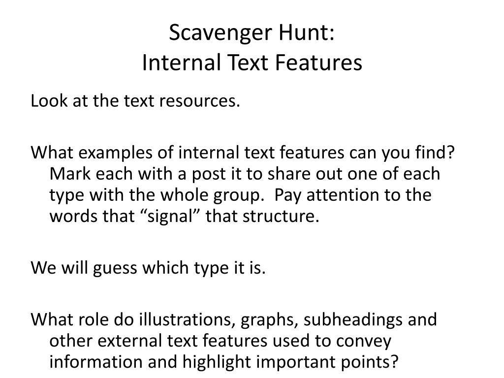 Scavenger Hunt: