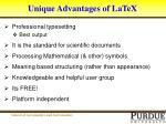 unique advantages of latex