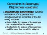 constraints in supertype disjointness constraint