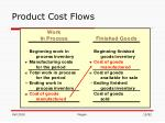 product cost flows12