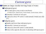 current gyres