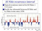 el ni o r ecurrence interval