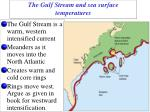 the gulf stream and sea surface temperatures
