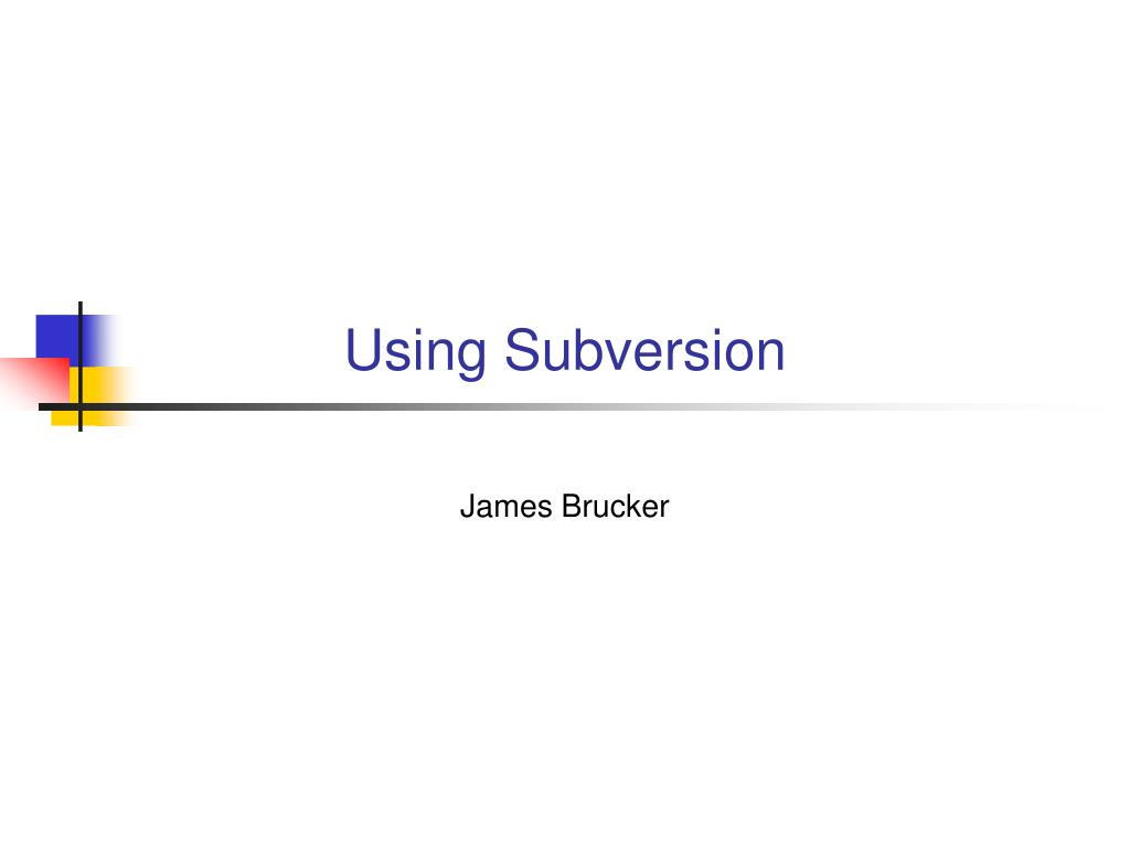 using subversion l.