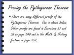 proving the pythagorean theorem6