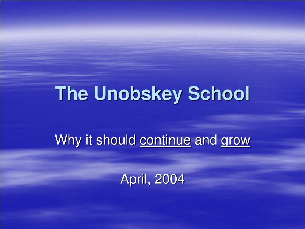 the unobskey school l.