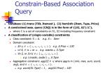constrain based association query
