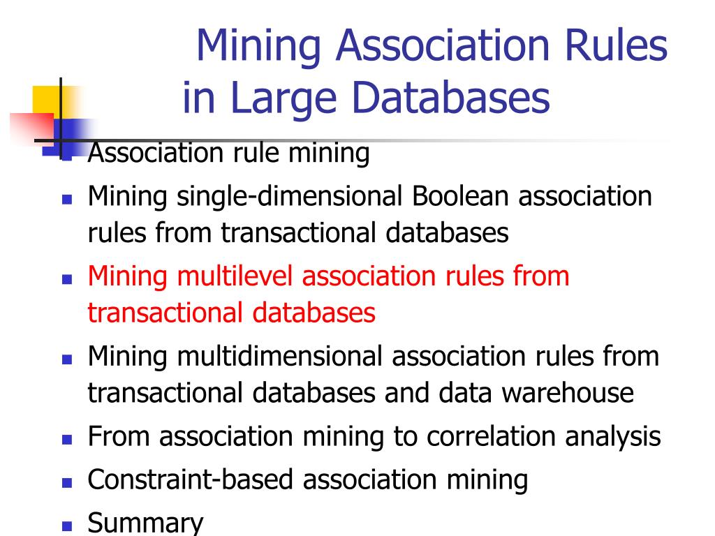 mining association rules in large databases l.