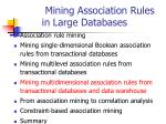 mining association rules in large databases11