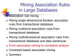 mining association rules in large databases19