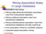 mining association rules in large databases38