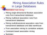 mining association rules in large databases40