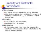 property of constraints succinctness