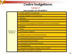 cadre budg taire17