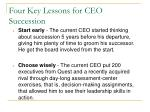 four key lessons for ceo succession