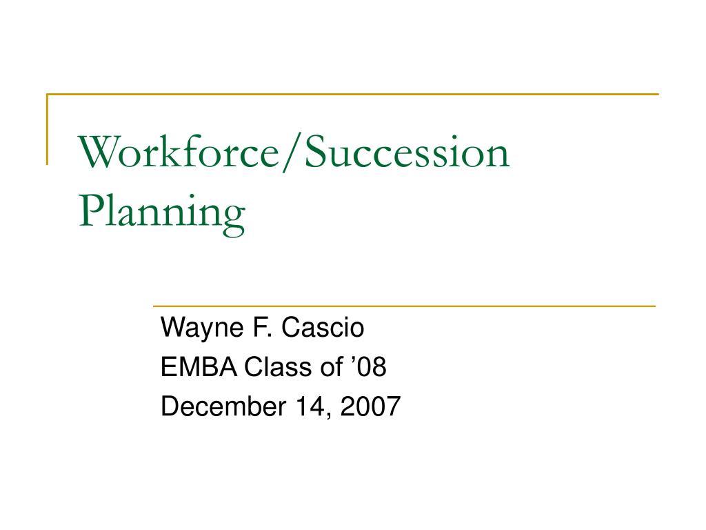 workforce succession planning l.