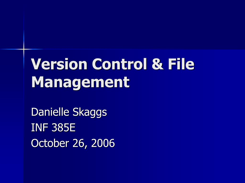 version control file management l.