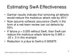 estimating swa effectiveness
