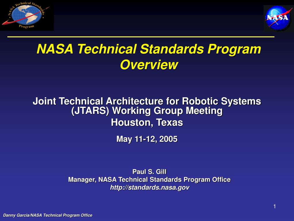 nasa technical standards program overview l.