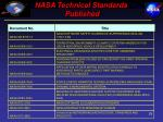 nasa technical standards published