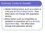 extrinsic limits to growth39