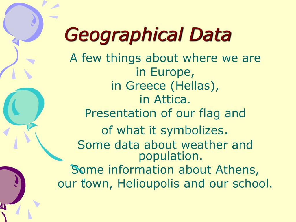 geographical data l.