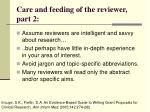 care and feeding of the reviewer part 2