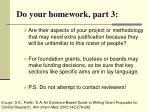 do your homework part 3