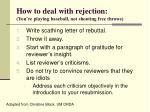 how to deal with rejection you re playing baseball not shooting free throws