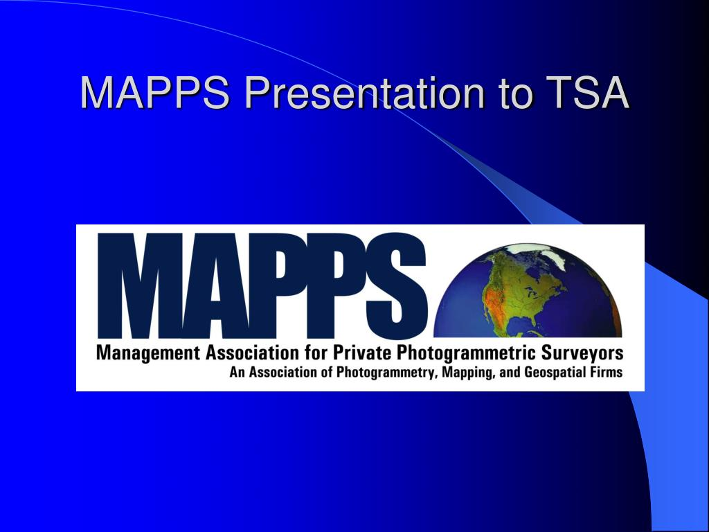 mapps presentation to tsa l.