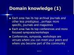 domain knowledge 1