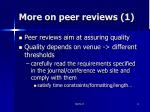 more on peer reviews 1