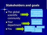 stakeholders and goals